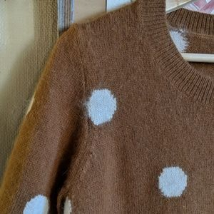 Madewell Sweaters - Madewell // polka dot rabbit hair sweater